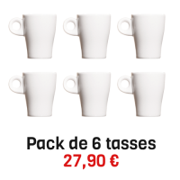 6 tasses epresso Pillivuyt empilables 8 cl Fluto