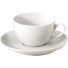 Tasse & soucoupe grand cafe Pillivuyt blanche 18 cl