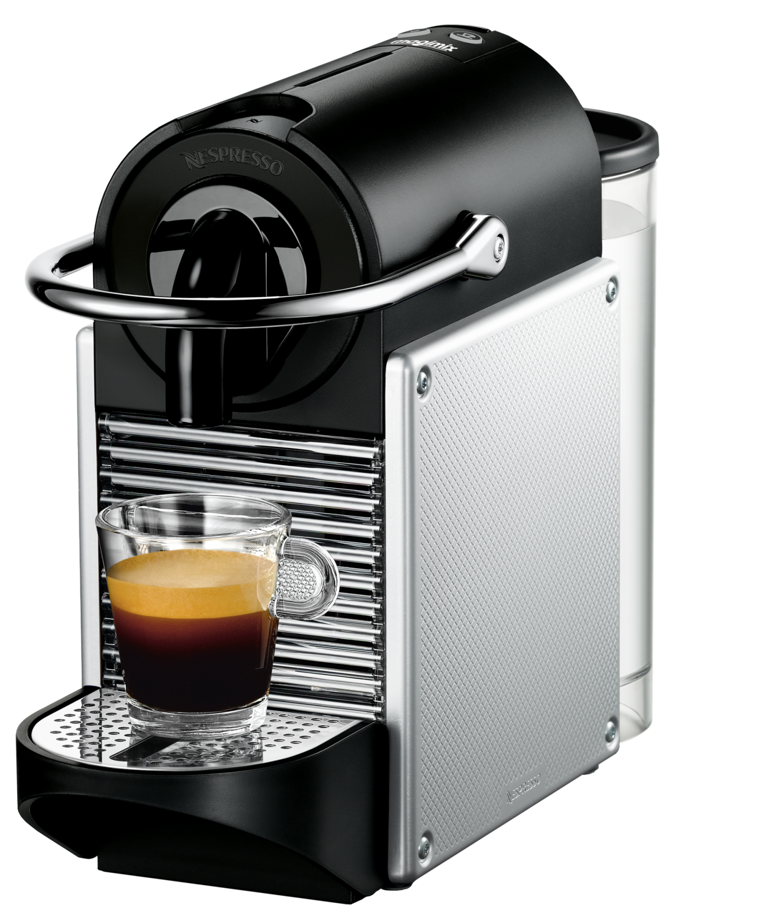nespresso m110 pixie gris m tal automatique magimix 11322 capsules compatibles nespresso. Black Bedroom Furniture Sets. Home Design Ideas