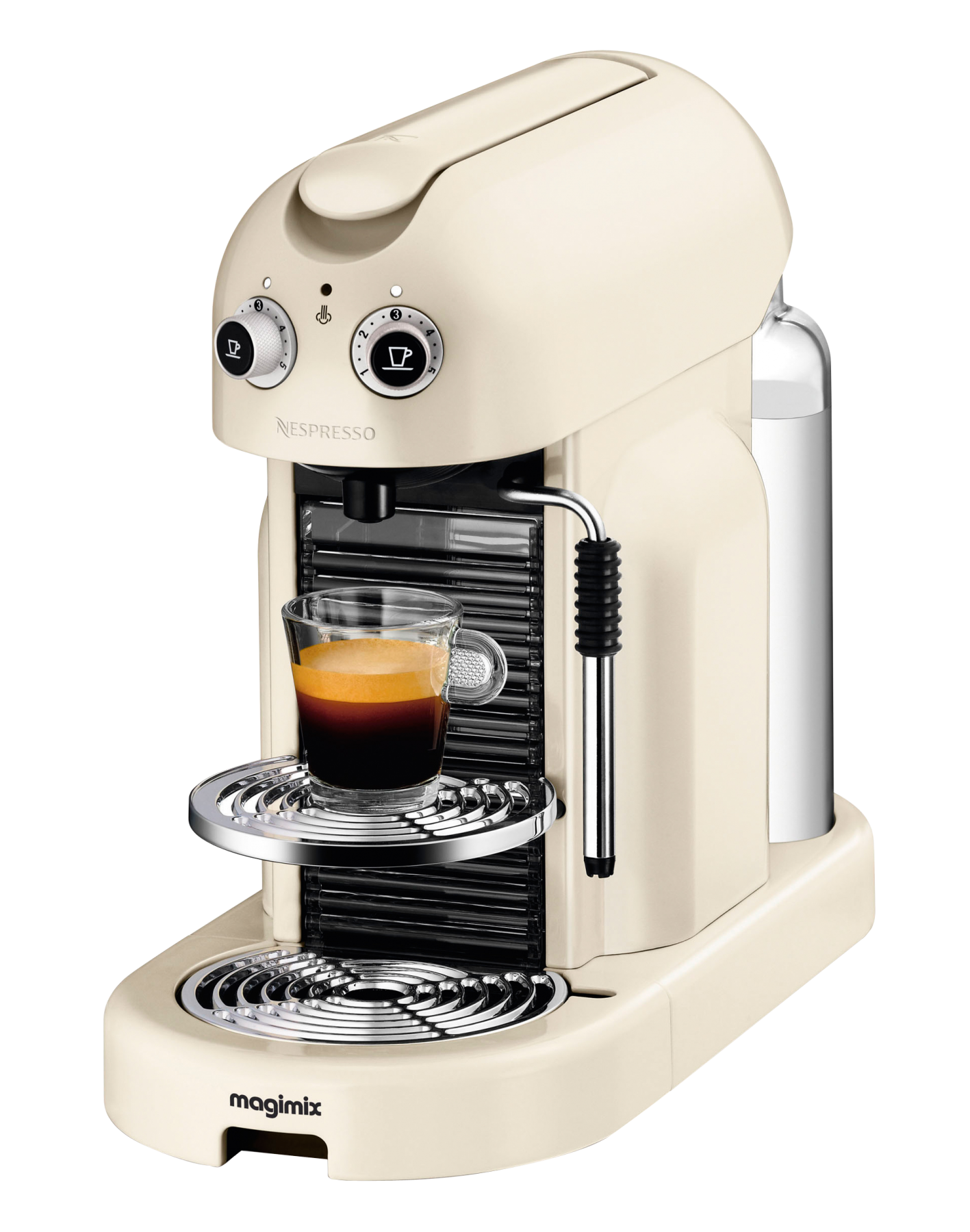 nespresso m400 maestria ivoire automatique magimix 11330 capsules compatibles nespresso. Black Bedroom Furniture Sets. Home Design Ideas