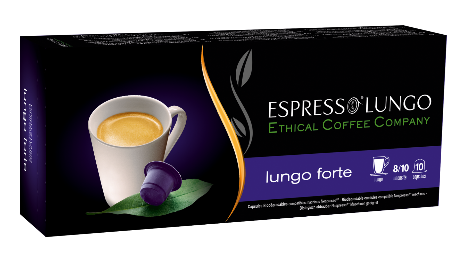 lungo forte capsules compatibles nespresso moins ch res. Black Bedroom Furniture Sets. Home Design Ideas